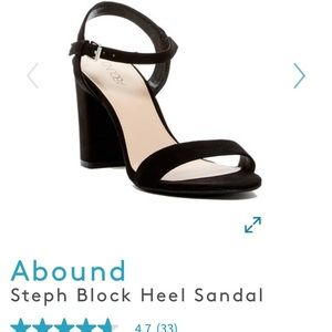 ABOUND black block heel ankle strap shoes 7.5
